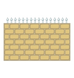 Brick wall fence icon cartoon style vector image vector image