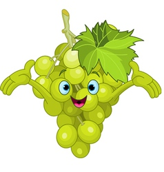 cartoon grape character vector image