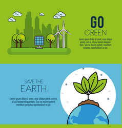 eco green energy infographic design vector image