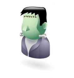 Frankenstein icon vector image vector image