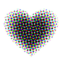 Heart halftone vector image vector image
