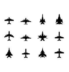 icons of airplanes vector image vector image