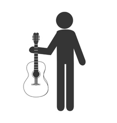 Musician with instrument vector image