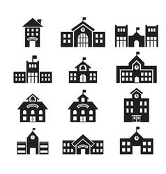 School building icon vector