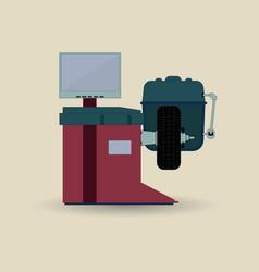 balancing machine tool vector image