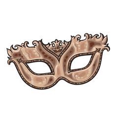 beautifully decorated golden venetian carnival vector image