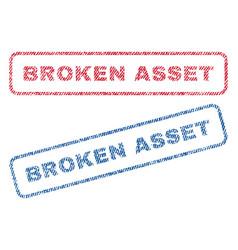 broken asset textile stamps vector image
