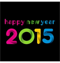 colorful happy new year 2015design vector image