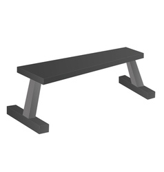 Flat Bench vector image vector image