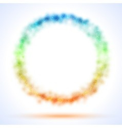 Circle frame with color sparks vector image