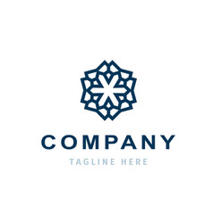creative company logo design business template vector image
