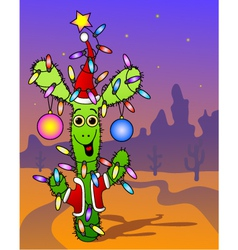 New Years cactus vector image vector image