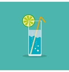 Refreshing non-alcoholic or alcoholic drink with a vector