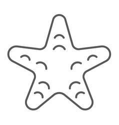 starfish thin line icon animal and underwater vector image