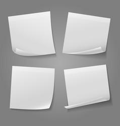 white blank square memo paper sticker stock vector image