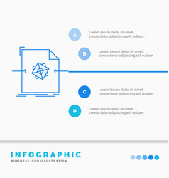 3d document file object processing infographics vector image