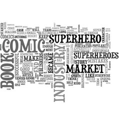a comedy of comic book industry errors text word vector image