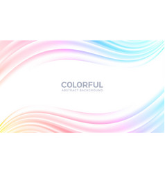 abstract flow wave colorful background vector image