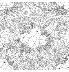 Amla doodle seamless pattern vector image