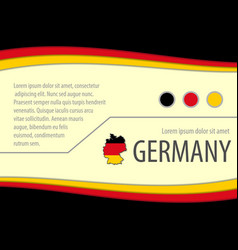 background with german colors vector image
