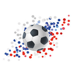 ball for football on abstract background vector image