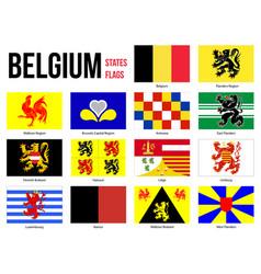 Belgium all region provinces flag on white vector