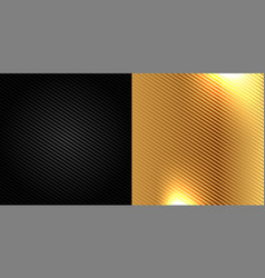 Black and golden carbon fiber kevlar texture vector