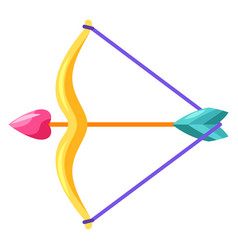 bow and arrow with heart vector image