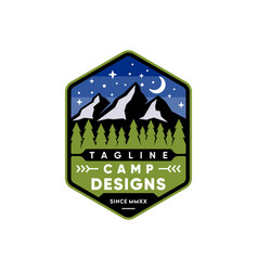 camp logo design vector image