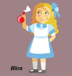 cartoon alice vector image