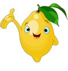 cartoon lemon character vector image
