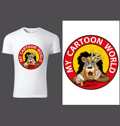 Child t-shirt design with lion king vector