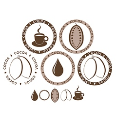 Cocoa Set vector
