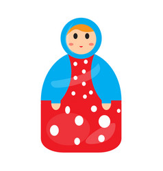 colored matrioshka toy icon vector image
