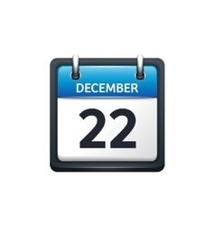December 22 Calendar icon vector