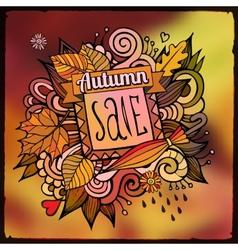 Decorative autumn sale blurred background vector