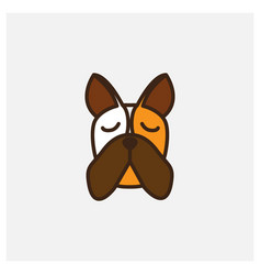 Dobermann dog head face logo design vector