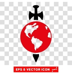 Earth Guard Sword Eps Icon vector image vector image