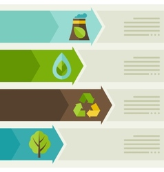 Ecology infographic with environment icons vector