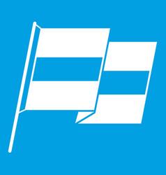Egyptian flag icon white vector