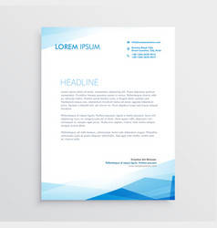 Elegant blue letterhead template design vector