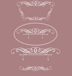 Elegant wedding frames vector
