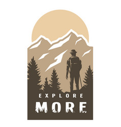 explore more traveler on background of vector image