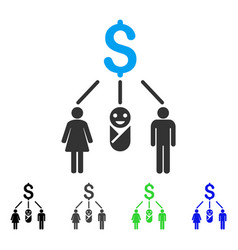 Family budget flat icon vector