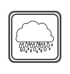 figure emblem cloud rainning icon vector image