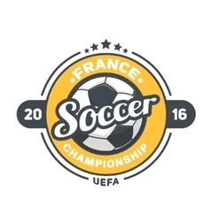 Football UEFA 2016 background vector image
