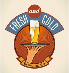 Fresh and cold vector