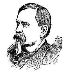 General william b franklin vintage vector