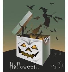 gift on Halloween vector image