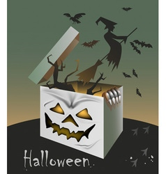 Gift on halloween vector